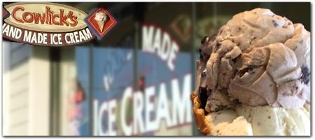 Click for more information on Cowlicks Ice Cream.