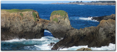 MENDOCINO HEADLANDS<br>BEAUTIFUL BLUFFS & BEACHES